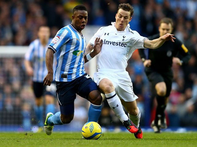 Franck Moussa and Scott Parker in action at White Hart Lane