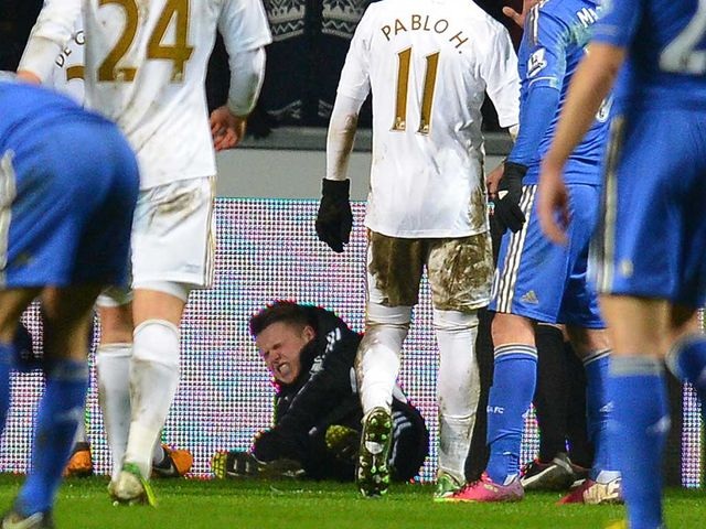 Hazard was sent off after an altercation with this ball boy