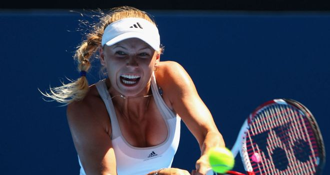 Caroline Wozniacki: Won six successive games in the final set to progress