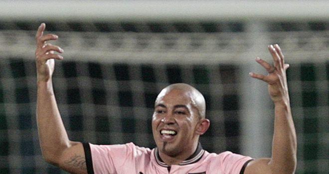 Arevalo Rios celebrates for Palermo
