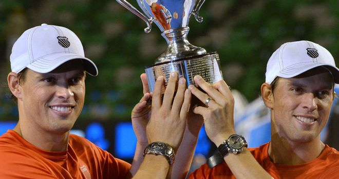 The Bryan brothers celebrate a record 13th Grand Slam crown in Australia
