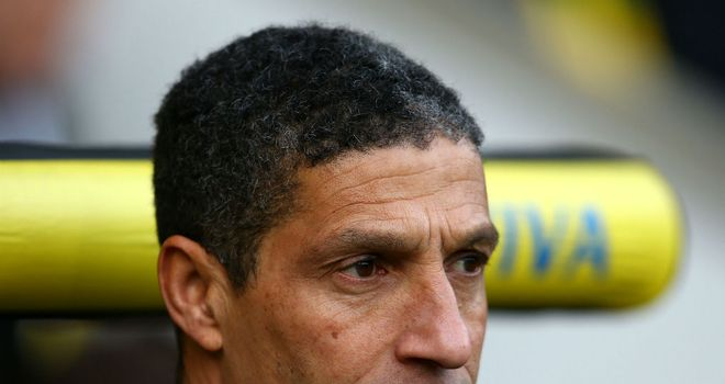 Chris Hughton: Will be looking for an improvement from his out-of-form Norwich side against Tottenham