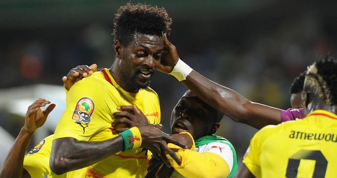 Emmanuel Adebayor: Enjoying his time with the national side