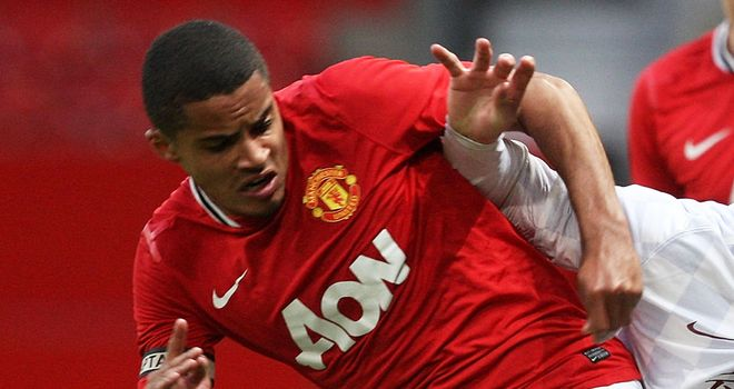 Zeki Fryers: In action for Manchester United