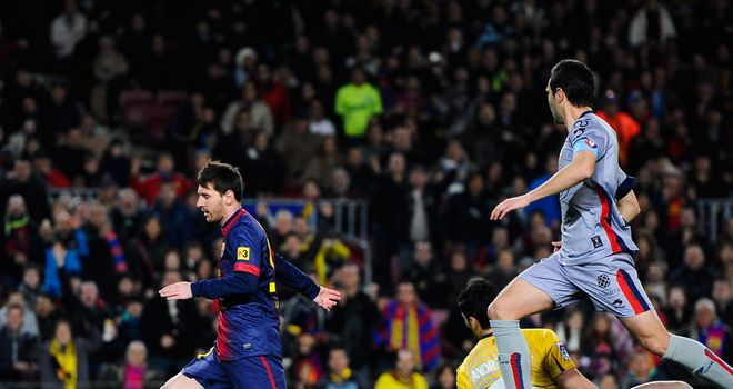 Messi nets one of his four goals