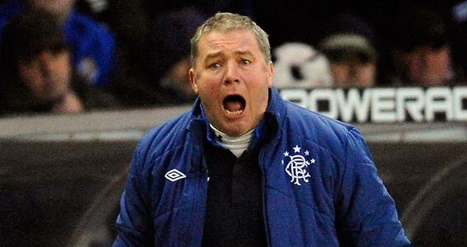 Ally McCoist: Reacted angrily after the 1-1 draw with Montrose