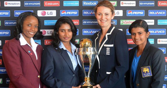 Captain's call: Merissa Aguilleira (WI), Mithali Raj (Ind), Charlotte Edwards (Eng) and Shashikala Siriwardena (SL)