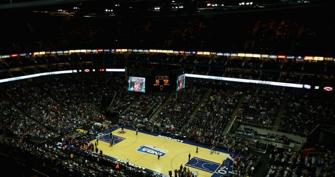 O2 Arena: Will be hosting NBA action again in 2014