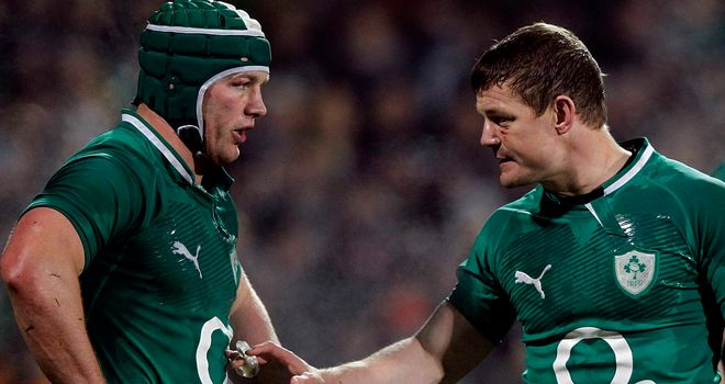 Sean O'Brien and Brian O'Driscoll will return to the Ireland side for the Millennium Stadium clash with Wales