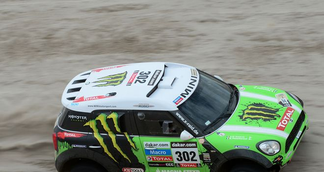Stephane Peterhansel: Consolidated his lead in the Dakar Rally
