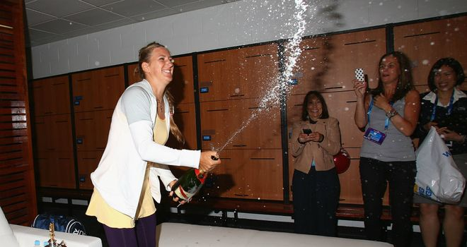 Victoria Azarenka: Overcame hostile reception to win second straight title