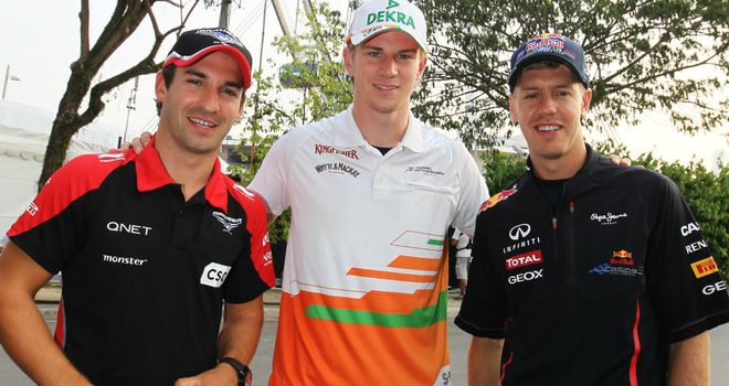 How they were in 2012: Glock, Hulkenberg and Vettel