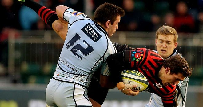 Alex Goode: Saracens full-back tests his shoulder against Cardiff Blues