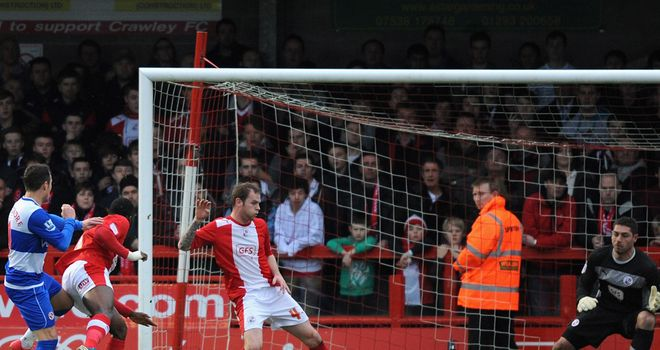 Adam Le Fondre: Scores Reading's equaliser en route to 3-1 win at Crawley