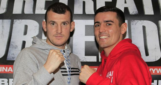 Derry Mathews (L) is hoping to please home fans at the Echo Arena(Lawrence Lustig/Matchroom)