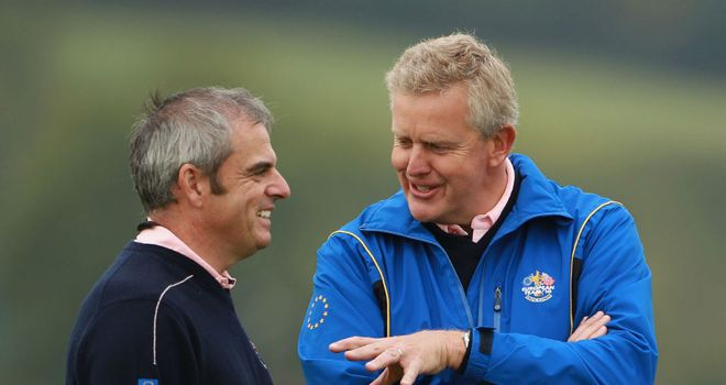 Colin Montgomerie (right) with Paul McGinley