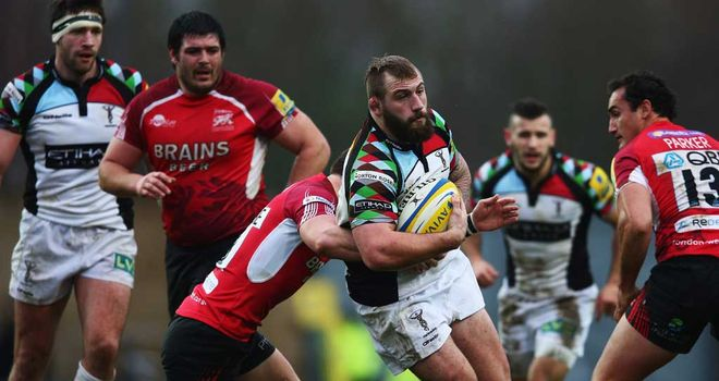 Harlequins forward Joe Marler in action against London Welsh