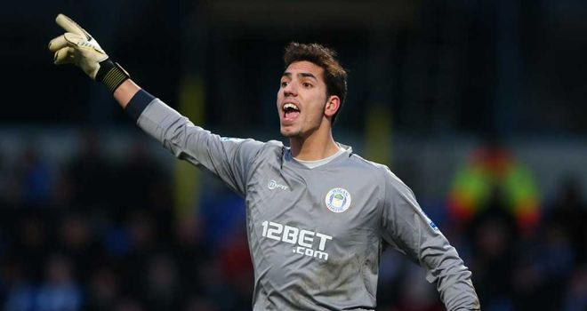 Joel Robles: Wigan goalkeeper on his debut against Macclesfield