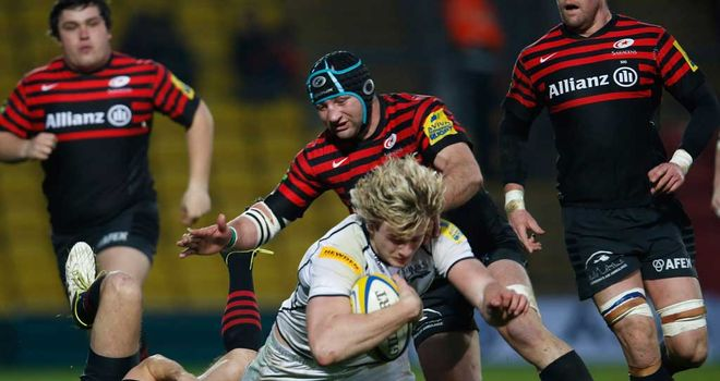 Match action from Saracens' win over Sale