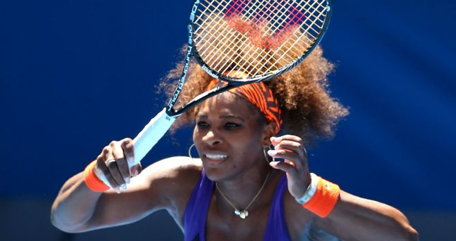 Serena Williams: remains on course for a third successive grand slam triumph