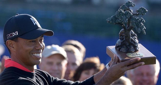 Woods: claimed his seventh Farmers Insurance Open title on Monday