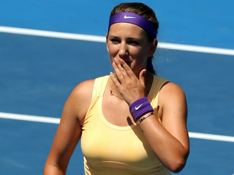 Azarenka: Has impressed on serve in the last two rounds