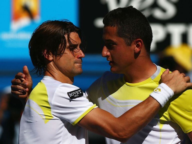 David Ferrer (l): 'Miracle' victory over Almagro
