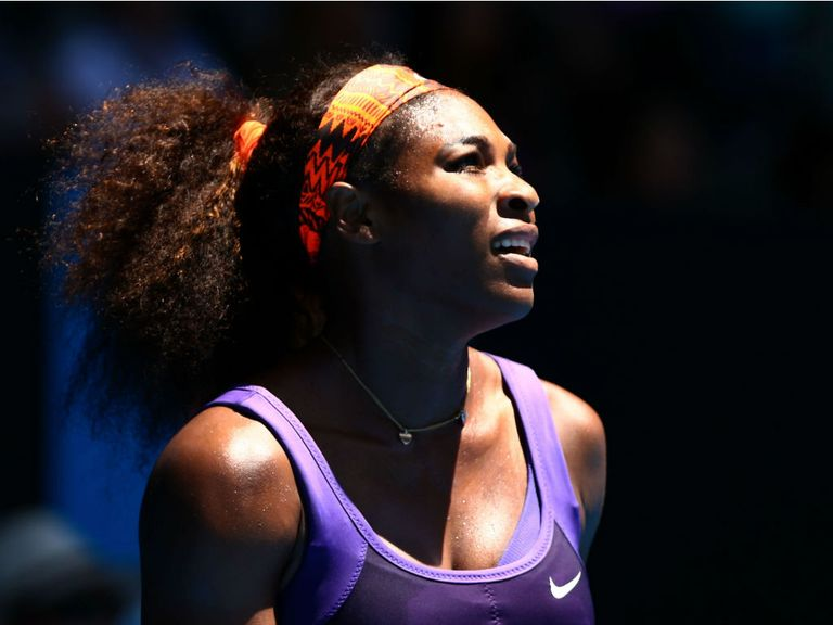 Serena Williams: Hurt her back during the Australian Open