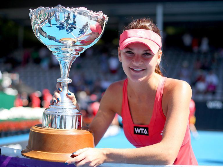 Radwanska with her trophy