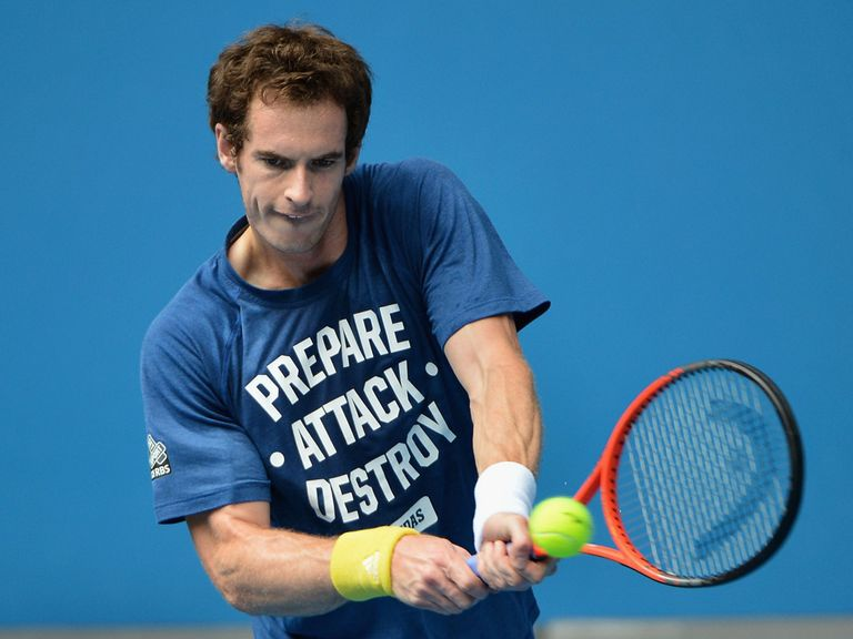 Andy Murray: Getting in practice under lights