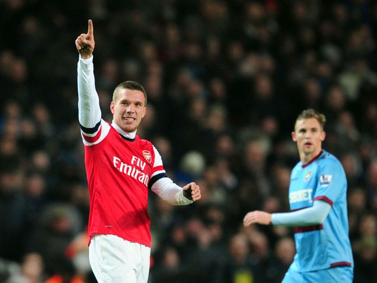 Podolski believes win v WEst Ham can help fire the Gunners into the top four