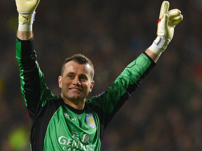 Shay Given: Currently on loan from Villa at Middlesbrough