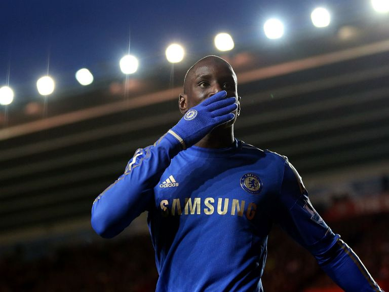 Demba Ba helped Chelsea to an easy win
