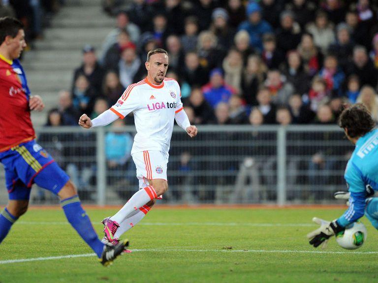Franck Ribery slots home Bayern's third goal