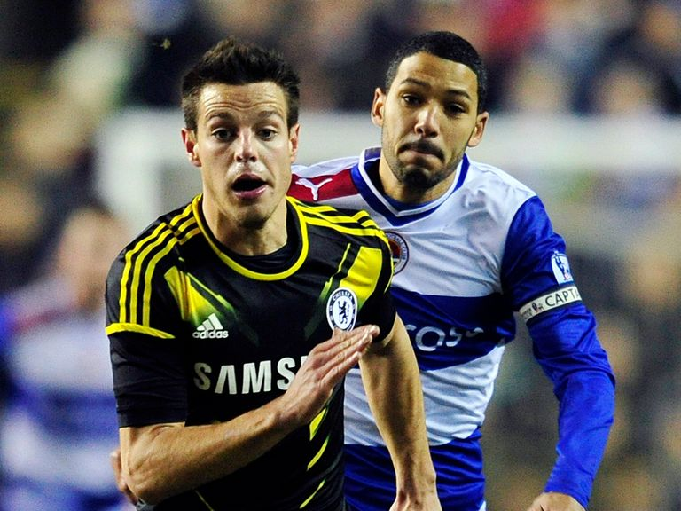 Cesar Azpilicueta in action against Reading.