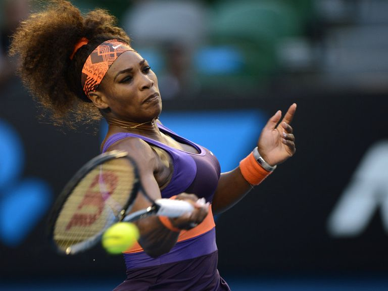 Serena Williams: Took just 57 minutes to reach the quarter finals