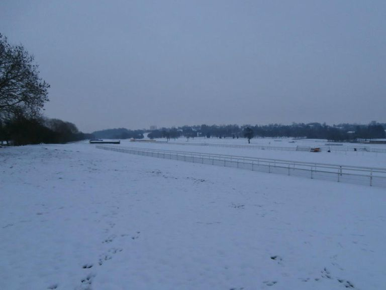Uttoxeter: Covered by snow