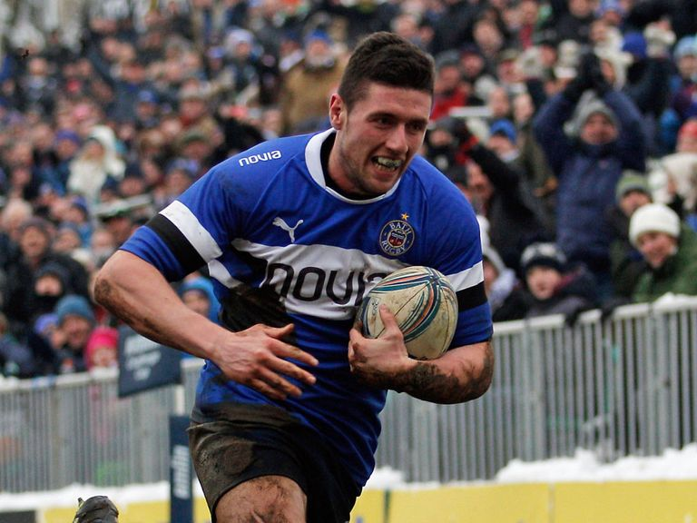 Jack Cuthbert scored a hat-trick of tries for Bath