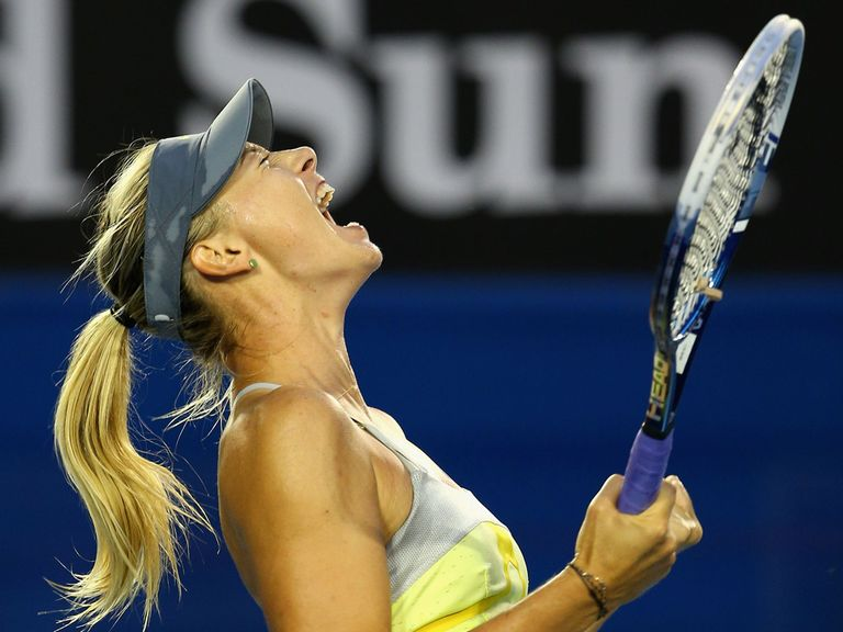 Sharapova: Serving well as she strolls through the draw