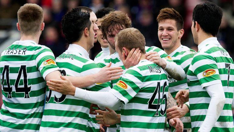 Rami Gershon: Congratulated after his debut goal for Celtic