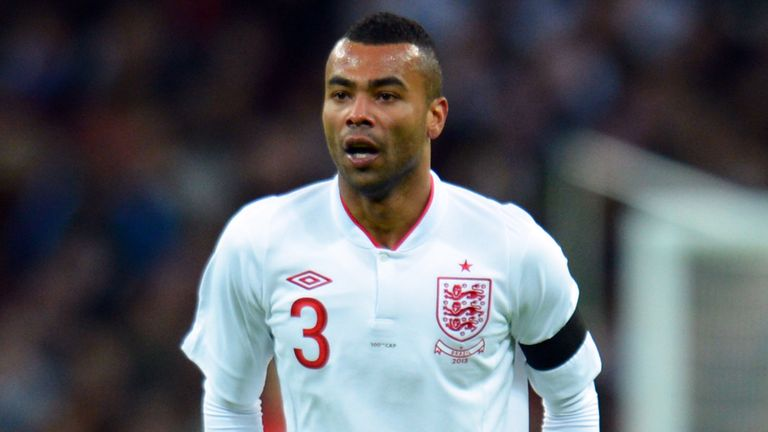 Ashley Cole: England left-back earned his 100th cap in the 2-1 win over Brazil