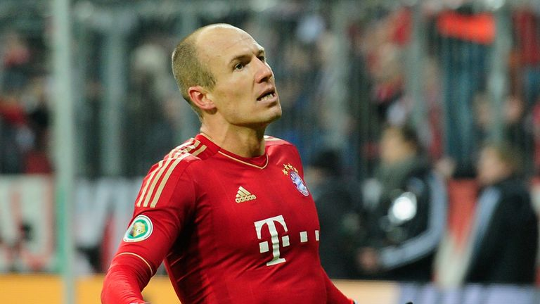 Arjen Robben: Celebrates his goal against Dortmund in the German Cup
