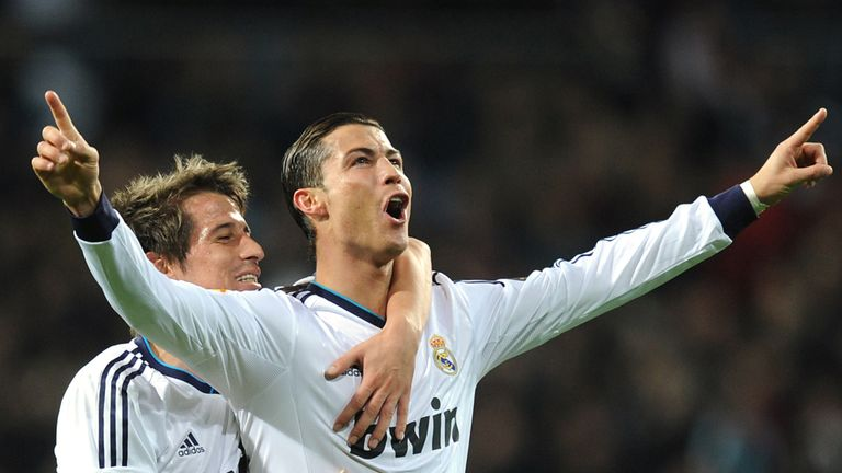 Cristiano Ronaldo celebrates another hat-trick