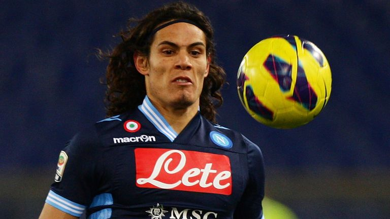 Edinson Cavani: The Napoli forward has a reported £53million buyout clause