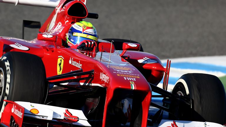 Felipe Massa in action at Jerez on Day One of the test