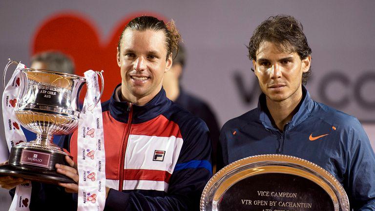 Horacio Zeballos, left, with Rafa Nadal