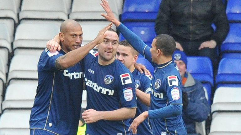 Iwelumo: Celebrates goal for Oldham