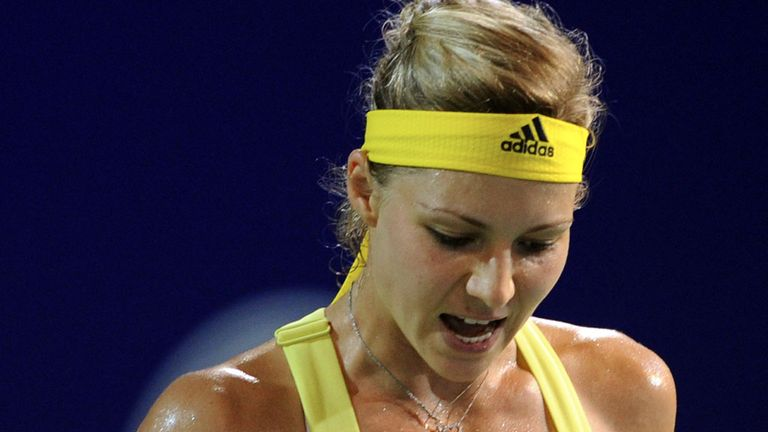 Maria Kirilenko celebrates victory in the semi-finals