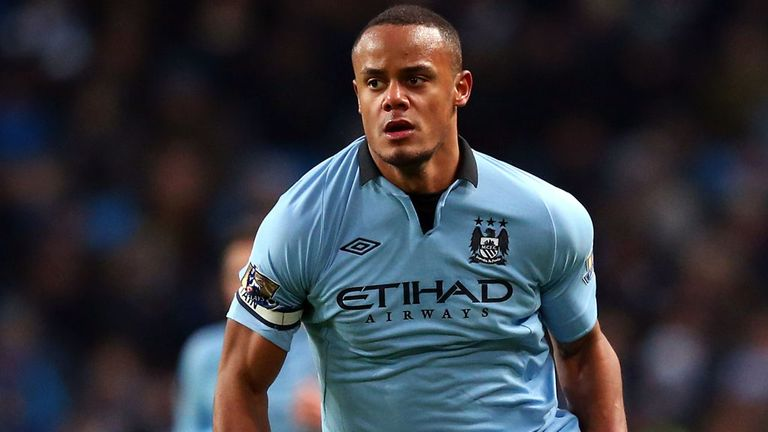 Vincent Kompany: Suffered calf strain at Stoke