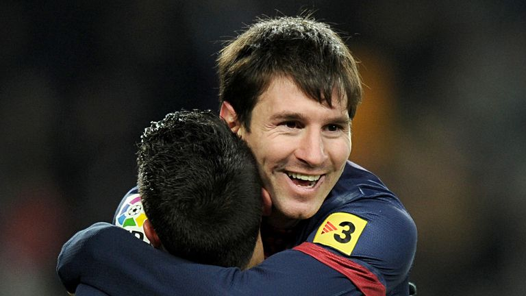 Lionel Messi: Barcelona star celebrates goal against Sevilla